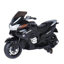 Электромотоцикл BMW R1200RT черный 12V - HZB-118 (колеса резина, кресло кожа, музыка, ручка газа)