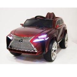 Электромобиль Lexus Е111КХ красный (колеса резина, кресло кожа, пульт, музыка)